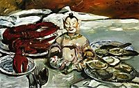 Still Life with Buddha-Lobsters and Oysters, 1916, corinth