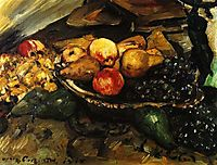 Still Life with Flowers, Skull, and Oak Leaves, 1915, corinth