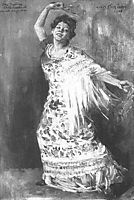Tilla Durieux as a Spanish Dancer, 1908, corinth