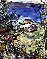 The Walchensee, Country House with Washing on the Line, 1923, corinth