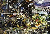 The Walchensee, Silberweg, 1923, corinth