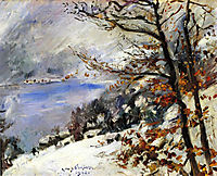 The Walchensee in Winter, 1923, corinth