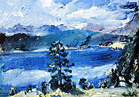 The Walchensee with a Larch Tree, 1921, corinth