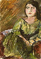 Wilhelmine in the Green Dress, 1924, corinth
