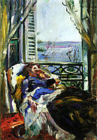 Woman in a Deck Chair by the Window, 1913, corinth