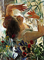 Woman with Lilies in a Greenhouse, 1911, corinth
