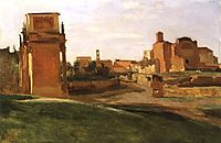 The Arch of Constantine and the Forum, Rome, 1843, corot