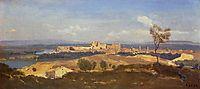 Avignon Seen from Villenueve les Avignon, 1836, corot