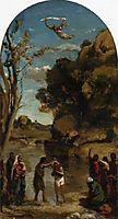 The Baptism of Christ (study), 1845, corot