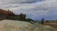 The Beach at Dunkirk, 1857, corot