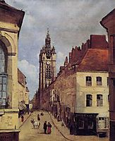 The Belfry of Douai, 1871, corot