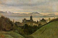 Between Lake Geneva and the Alps, 1825, corot