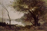 The Boatmen of Mortefontaine, 1870, corot