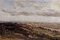 Bologne sur Mer, View from the High Cliffs, 1860, corot