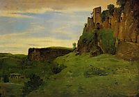 Civita Castellana Buildings High in the Rocks (La Porta San Salvatore), c.1827, corot