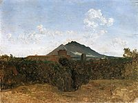 Civita Castellana and Mount Soracte, 1826, corot