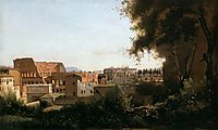 The Colosseum Seen from the Farnese Gardens, 1826, corot
