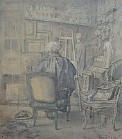 Corot in the Studio of Constant Dutilleux, 1856, corot