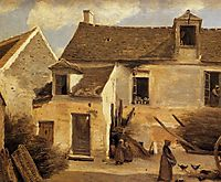 Courtyard of a bakery near Paris (Courtyard of a House near Paris), c.1865, corot