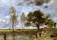 The Cow Path, 1870, corot