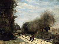 Crecy en Brie Road in the Country, c.1872, corot
