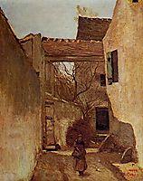 Ecouen, Corner of the Village, c.1870, corot