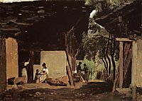 Entrance to a Chalet in the Bernese Oberland, c.1842, corot