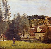The Evaux Mill at Chiery, near Chateau Thierry, c.1860, corot