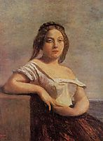 The Fair Maid of Gascony (The Blond Gascon), 1850, corot