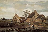 A Farm in the Nievre, 1831, corot