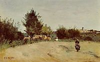 Field above the Village (Marcoussis), c.1865, corot