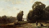 Field by a River, 1870, corot