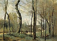First Leaves, near Nantes, c.1855, corot