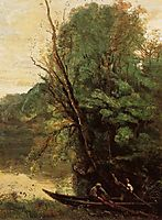 Fishing with Nets, 1850, corot