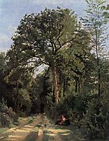 Forest Entrance at Ville d-Avray, corot