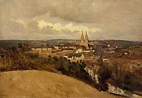 General View of the Town of Saint Lo, c.1833, corot