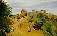 The goat herd of Genzano, 1843, corot