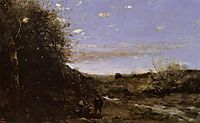Hamlet and the Gravedigger, c.1874, corot