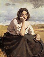 Harvester Holding Her Sickle, 1838, corot