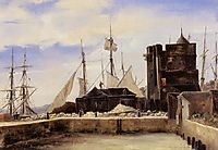 Honfleur, The Old Wharf, c.1825, corot
