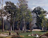 In the Woods at Ville d-Avray, corot