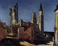Jimieges, 1831, corot