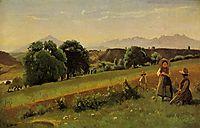 Landscape at Mornex, Haute Savoie, 1842, corot