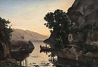 Landscape near Riva on Lake Garda, 1835, corot