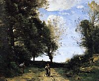 Landscape with Three Figures, c.1860, corot