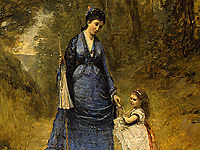 Madame Stumpf and Her Daughter, 1872, corot