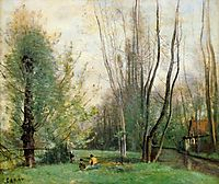 Morning in Beauvais, 1860, corot