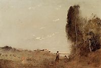 Morning by the Water, 1873, corot