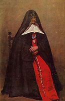 The Mother Superior of the Convent of the Annonciades, 1855, corot