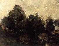 Near Arras, the Banks of the Scarpe, c.1865, corot